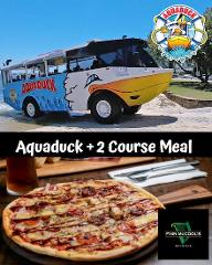 Aquaduck + 2 Course Meal at Finn McCools.
