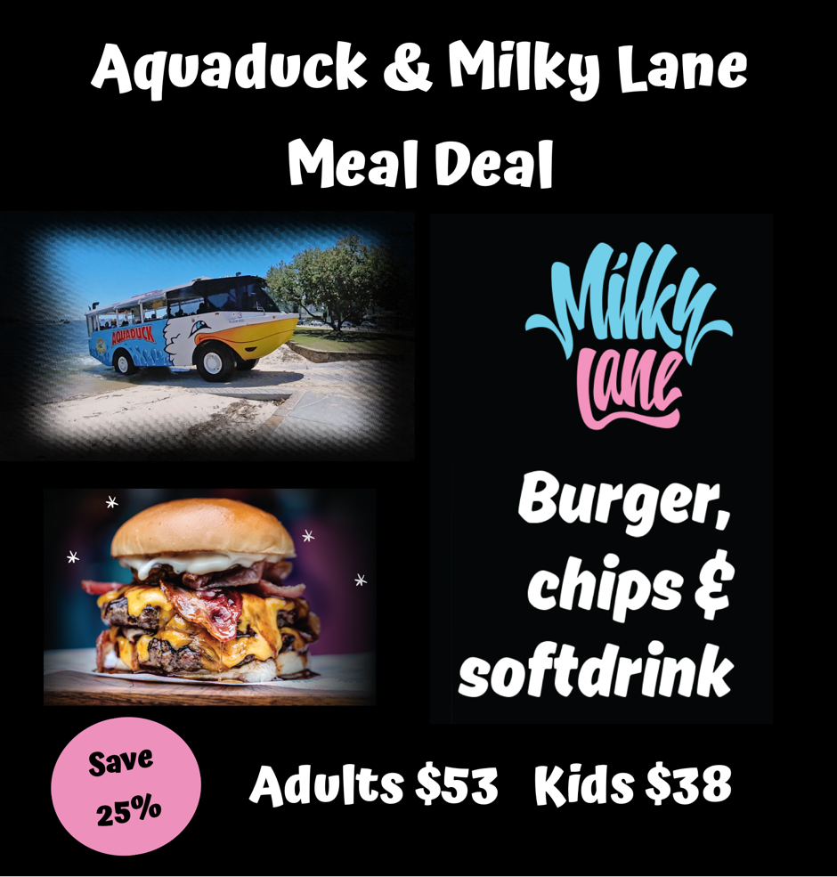 Aquaduck + Milky Lane Meal Deal
