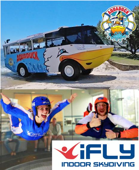 Aquaduck + iFLY Indoor Skydiving