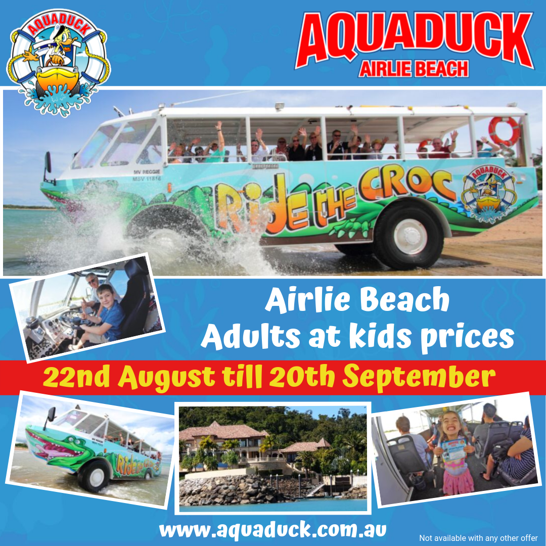 PROMO Aquaduck Airlie Beach - Adults at Kids!