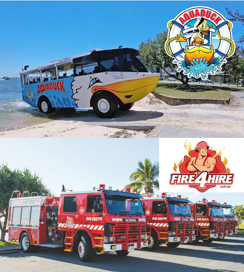Aquaduck + Fire Truck Tour Combo