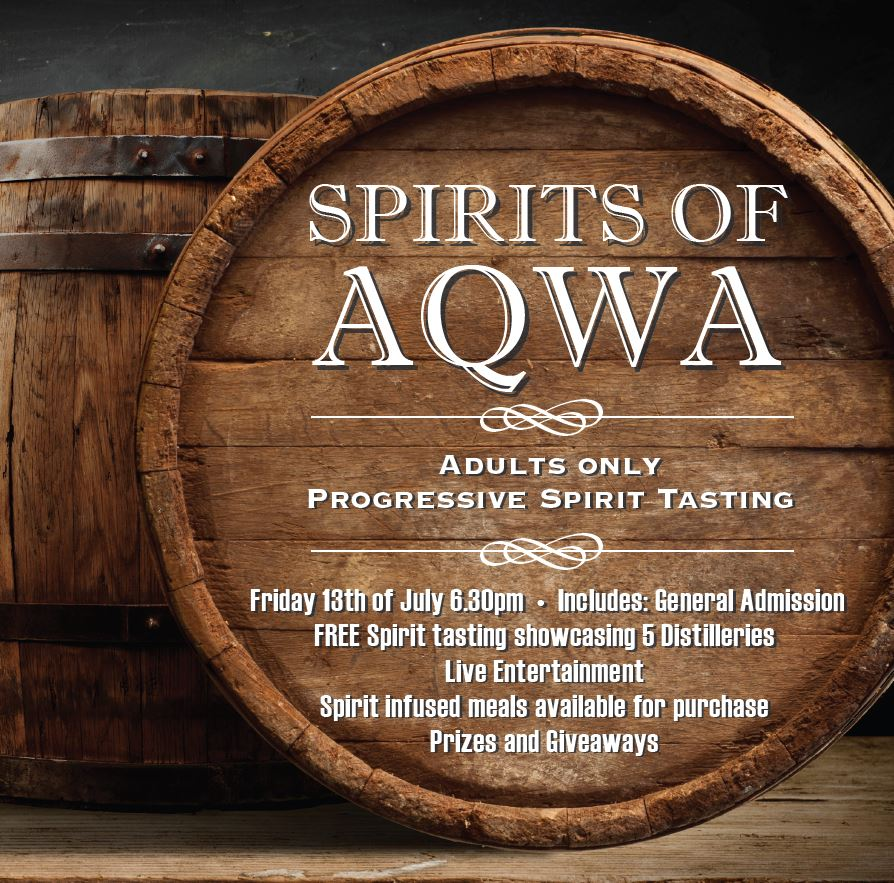 Spirits of AQWA - Progressive Spirit Tasting