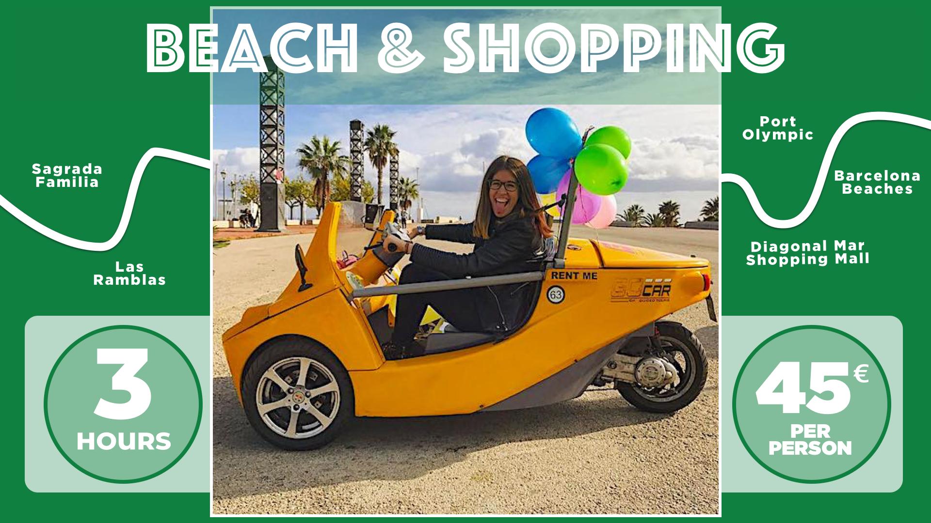 Beach & Shopping Tour
