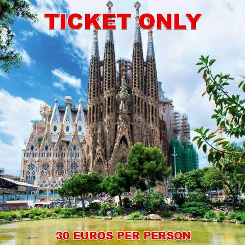 TICKET ONLY:  Sagrada Familia Ticket - Basic Entry