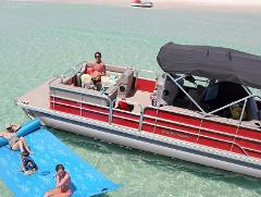 Pontoon Boat 24 ft 90 HP Half Day