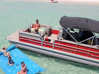 Pontoon Boat 24 ft 90 HP Full Day