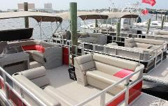 Pontoon Boat 24 ft 60 HP Half Day