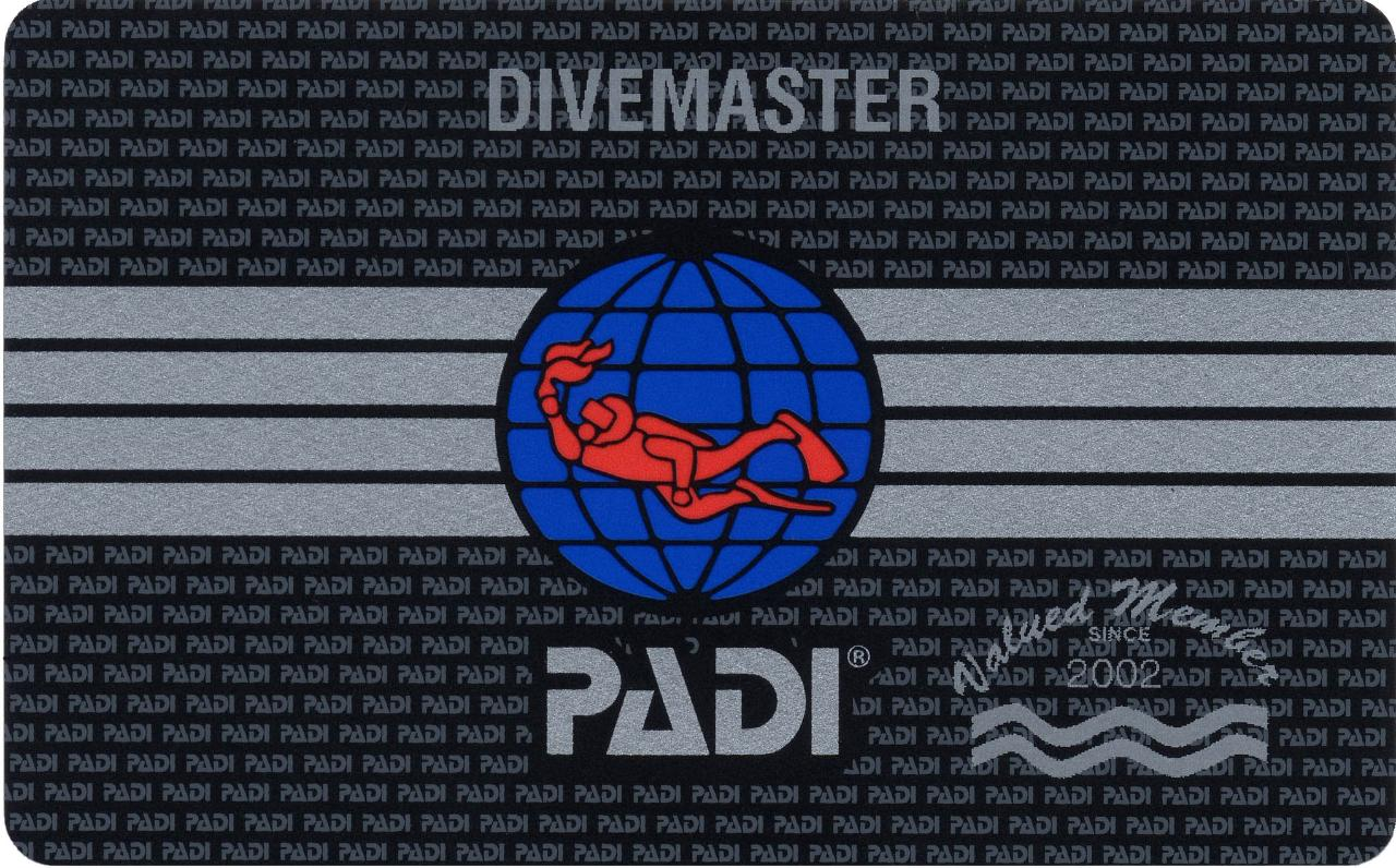 PADI Divemaster Professional Internship Certification Course in Padang Bai, Bali
