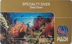 PADI Deep Diver Certification Specialty Course in Padang Bai, Bali