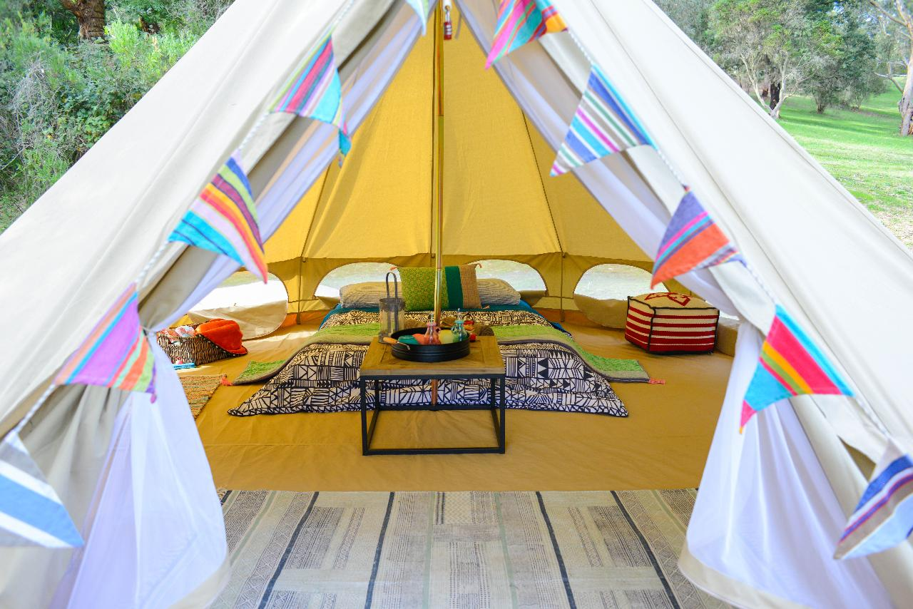 Bell Tent Gl&ing Experience & Bell Tent Glamping Experience - Bayplay Adventure u0026 Dive Tours ...