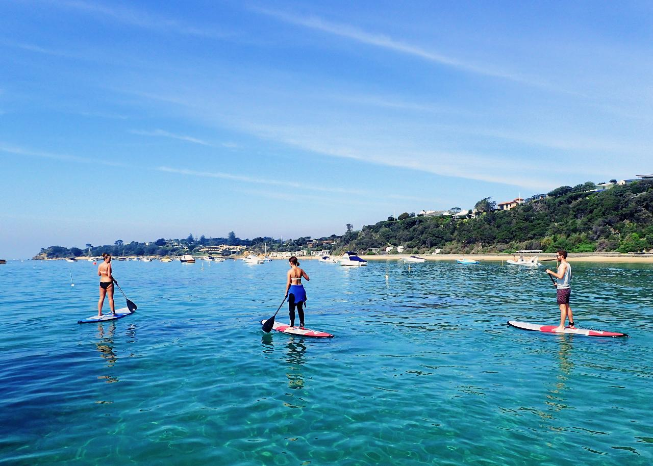 Stand Up Paddle Board Experience & Entry to Peninsula Hot Springs for 2