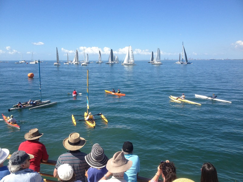 Brisbane to Gladstone Yacht Race-Redcliffe departure