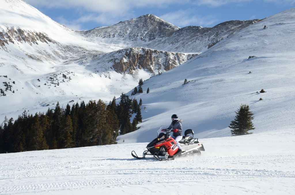 WHITE MOUNTAIN THREE-HOUR HIGH ADVENTURE SNOWMOBILE TOUR.  PRICE DOES NOT INCLUDE MANDATORY GUIDE GRATUITY OF $60.00