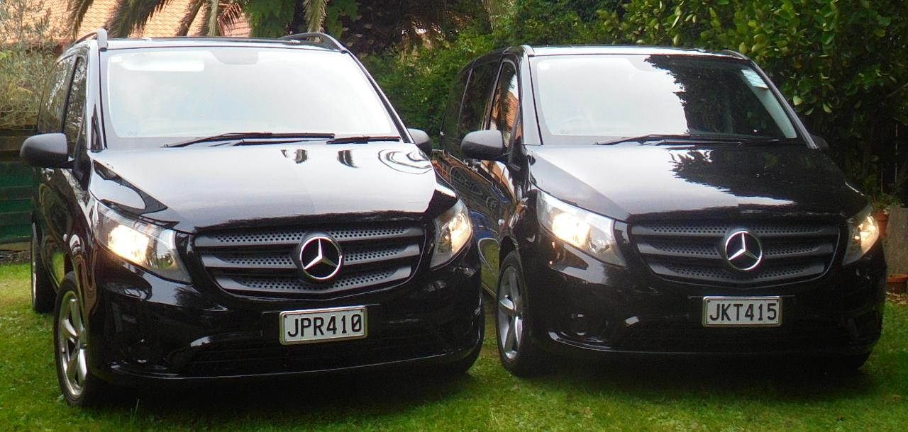 Corporate Vehicle & Chauffeur Driver Hire - (7 Passenger Mercedes V250 LWB Minivan)