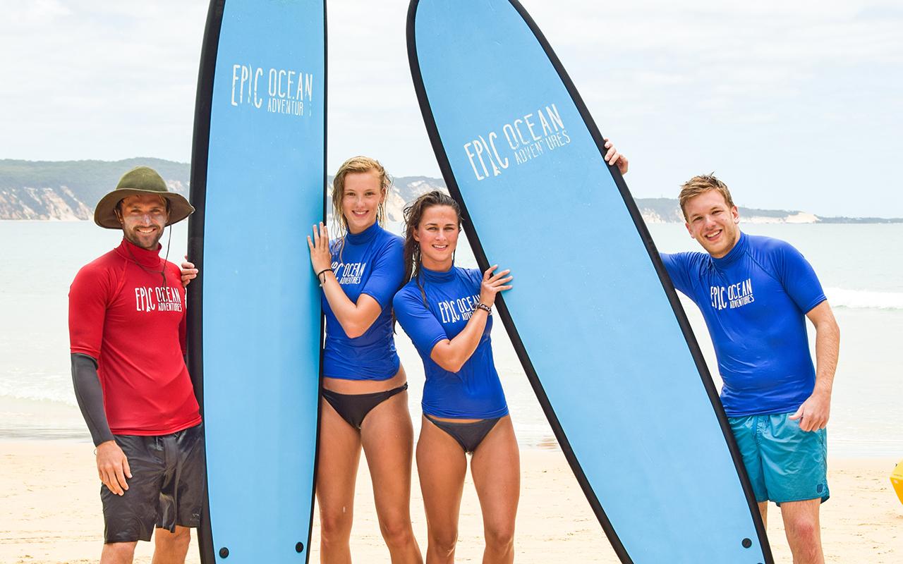 Learn to Surf Australia's Longest Wave + Great Beach Drive Adventure - Noosa  day trip