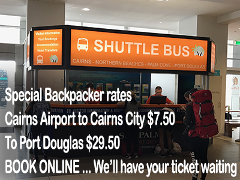 Cairns Airport to Cairns CBD Backpackers Special