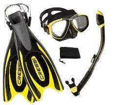 Cressi Combo -  Agua Fins, Perla Mare Mask and Snorkel Set (Adult)