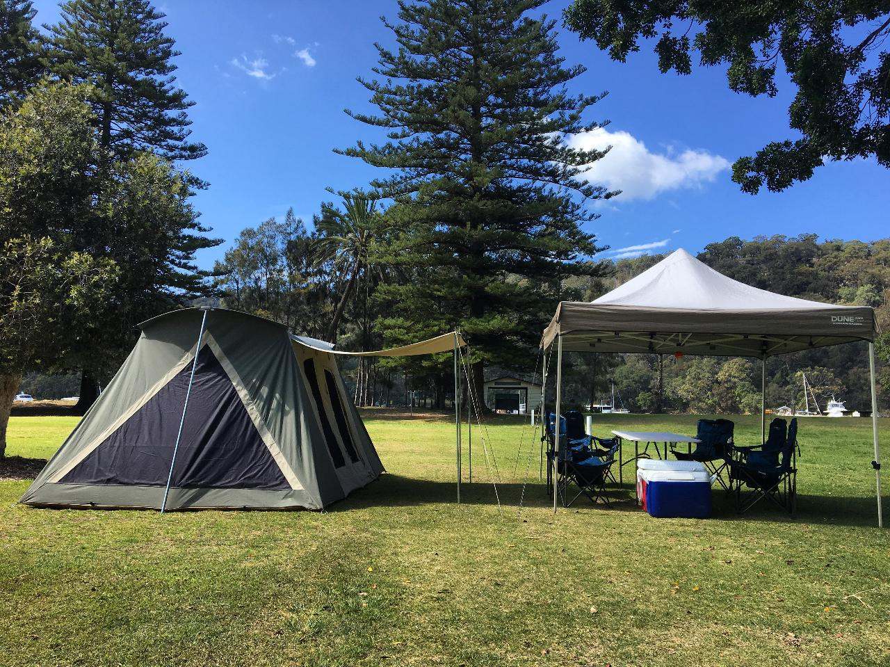 Sydney Deluxe Camping Experience - Basin Campsite Set Up Service