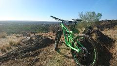 Small Merida One Forty dual suspension bike