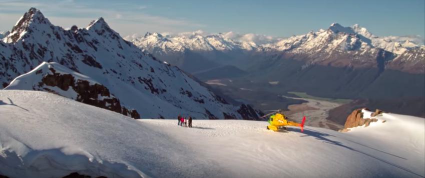 Alpine Snow Landing