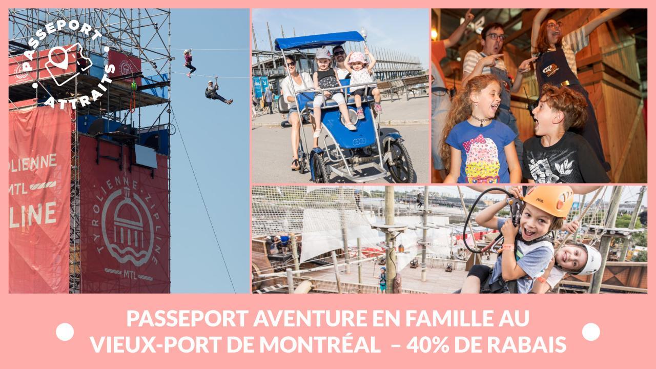 Passeport Aventure en famille au Vieux-Port de Montréal