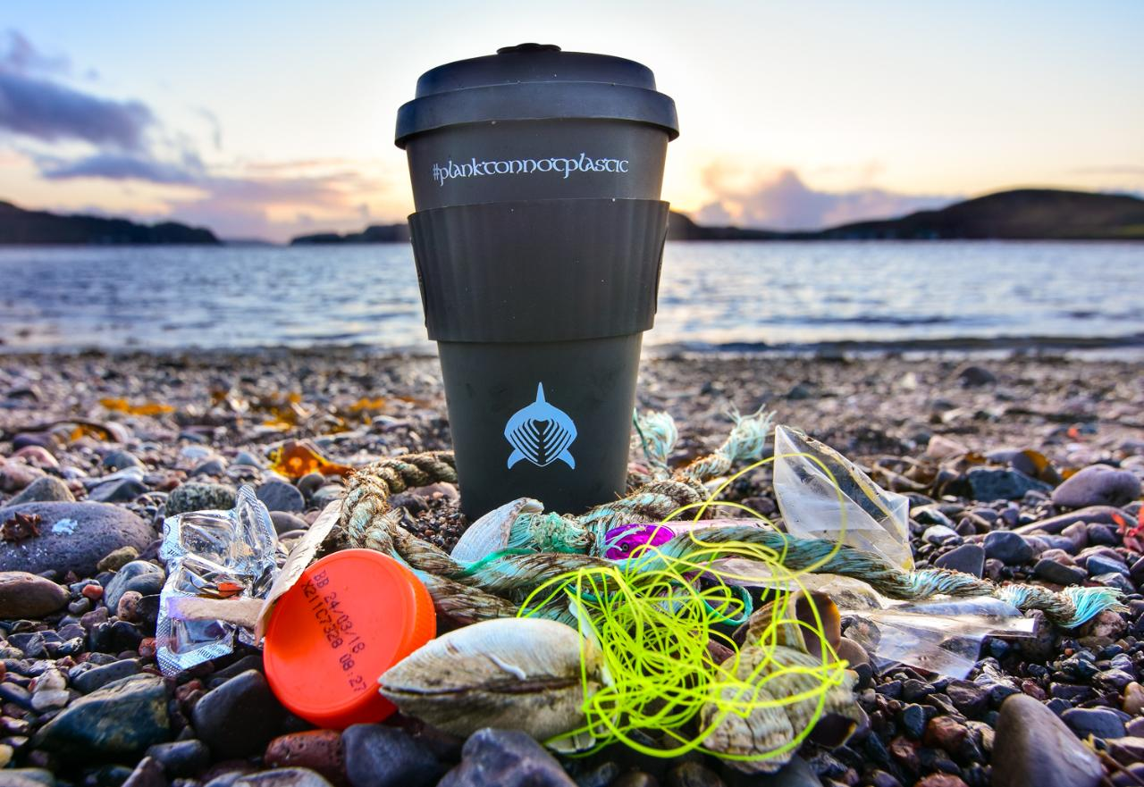 Bamboo Based Reusable Basking Shark Coffee Cup
