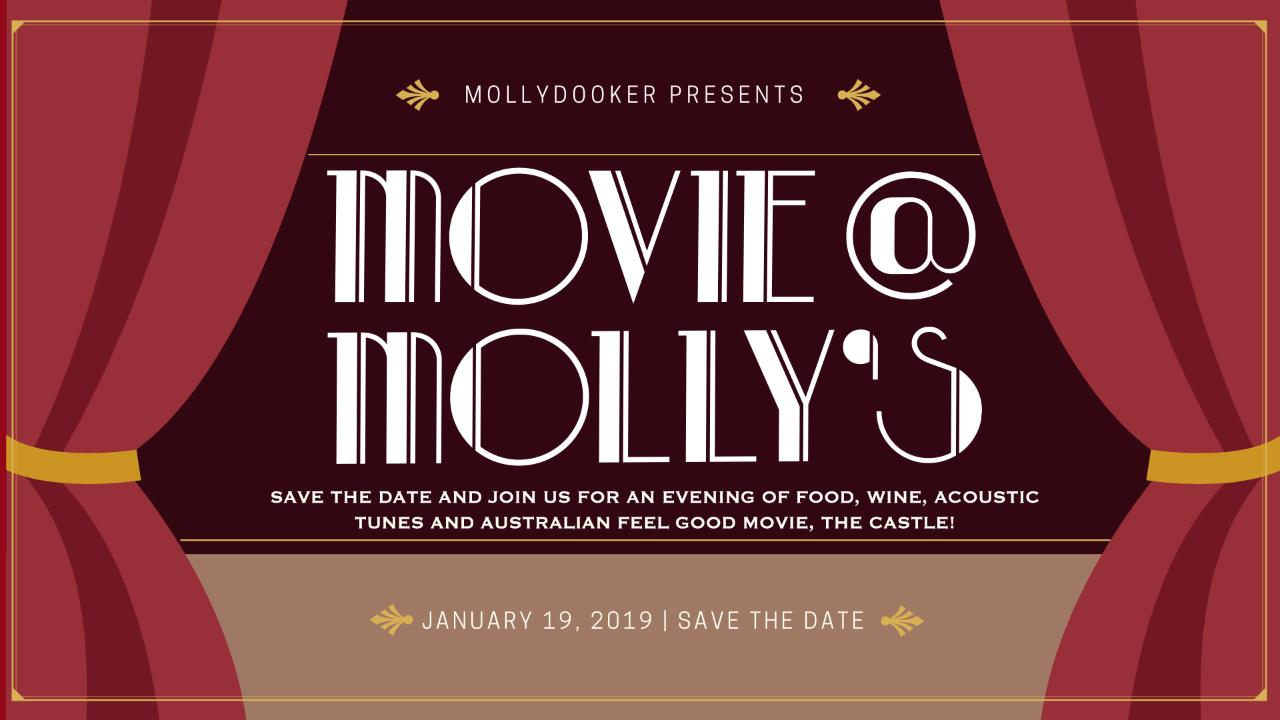 Movie @ Molly's Save the Date | The Castle