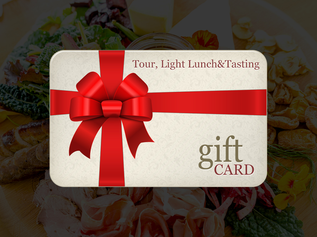 Tour, Light Lunch and Tasting - Gift Card