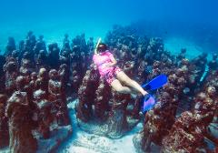 Snorkeling to Cancun Underwater Museum - Per Person