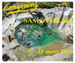 Canyoning&Trekking pe insula Samothraki, Grecia,  15-23 august 2020