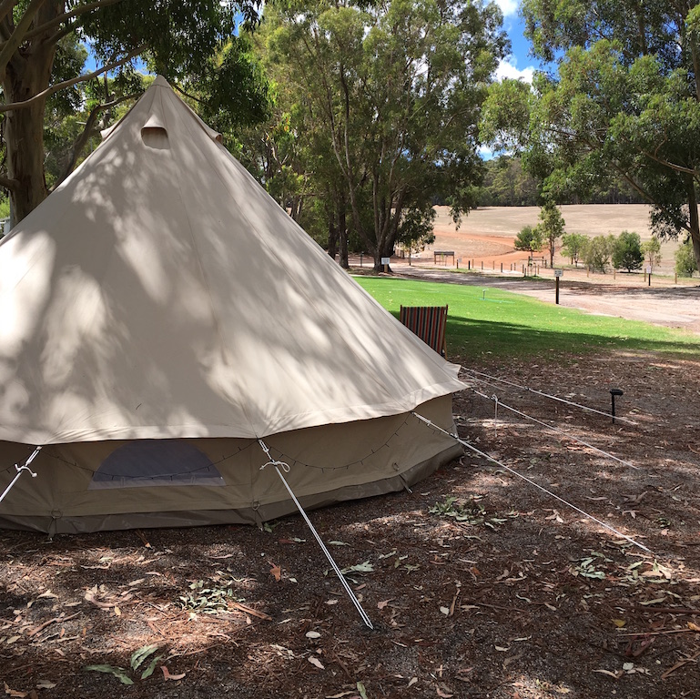 5 meter Luxury Canvas bell tent. CHOOSE YOUR OWN CAMPSITE