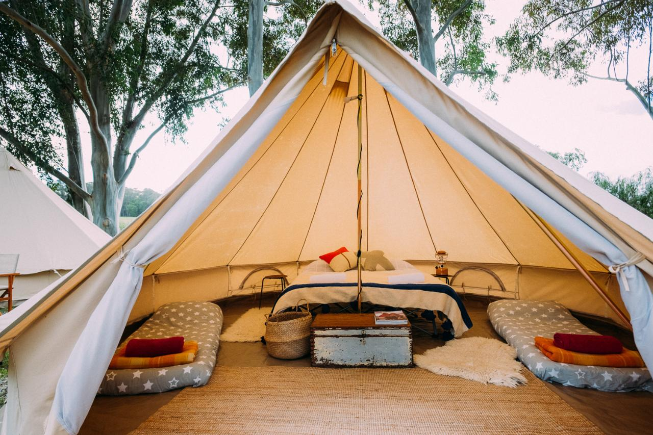 5-meter Luxury canvas bell tent. At Gracetown Caravan Park & 5-meter Luxury canvas bell tent. At Gracetown Caravan Park - Wild ...