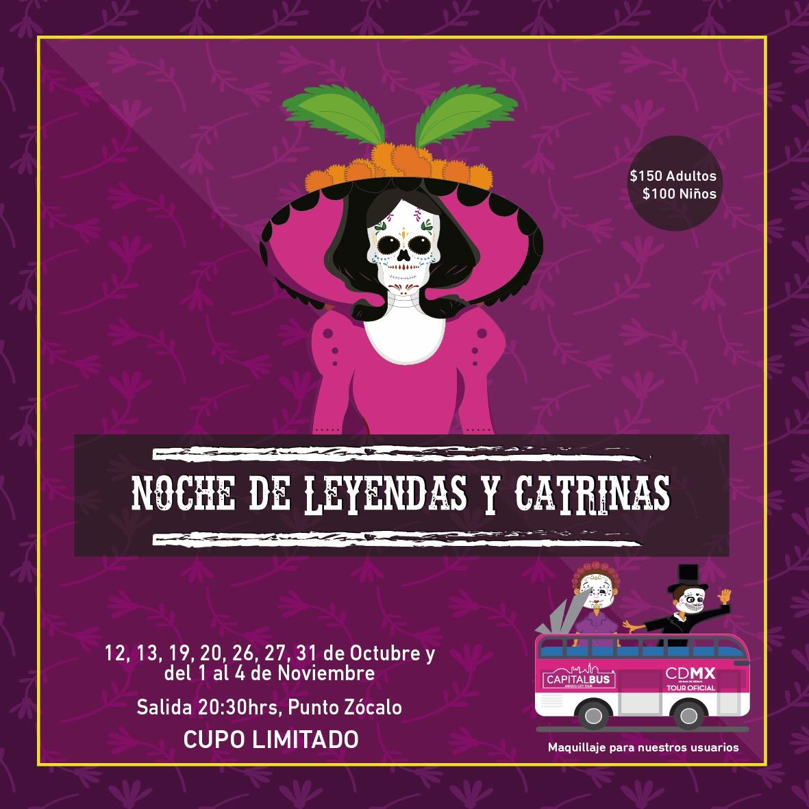 NOCHE DE LEYENDAS Y CATRINAS