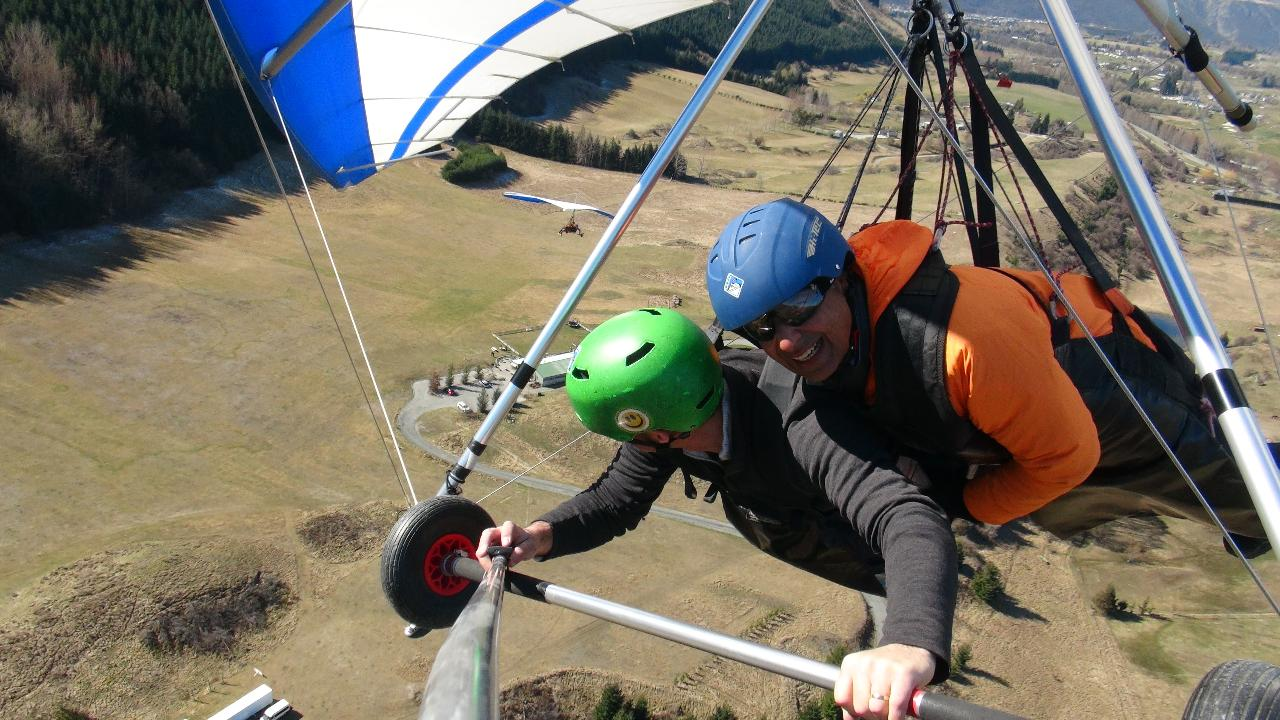 Winter Hang gliding