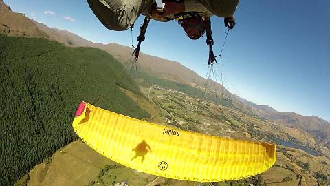 Summer Paragliding Higher Take off  - Aerobatic Flight