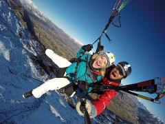Winter Paragliding Summit Take off