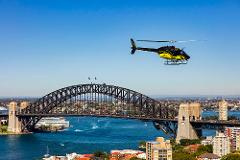 Sydney Harbour and Coastal 20 min private scenic helicopter flight for 3