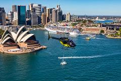 Sydney Harbour and Coastal 20 min private scenic helicopter flight for 2
