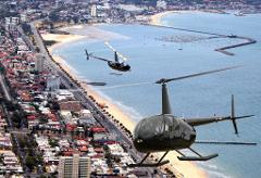 Melbourne City and St Kilda Coastal Private 20 Min Helicopter Flight for 3