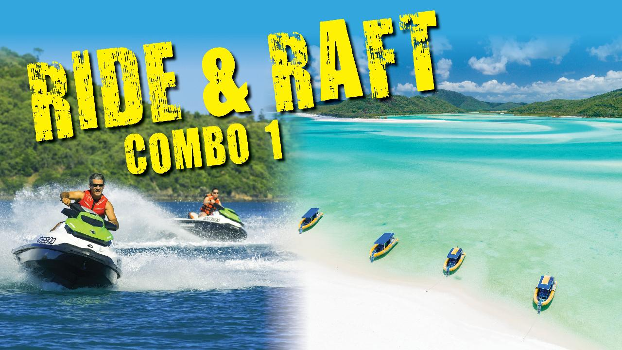 RIDE AND RAFT COMBO 1 – JETSKI AND OCEAN RAFTING PACKAGE