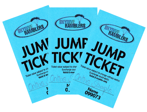 Jump Tickets 1 - 3 (14'000 feet)