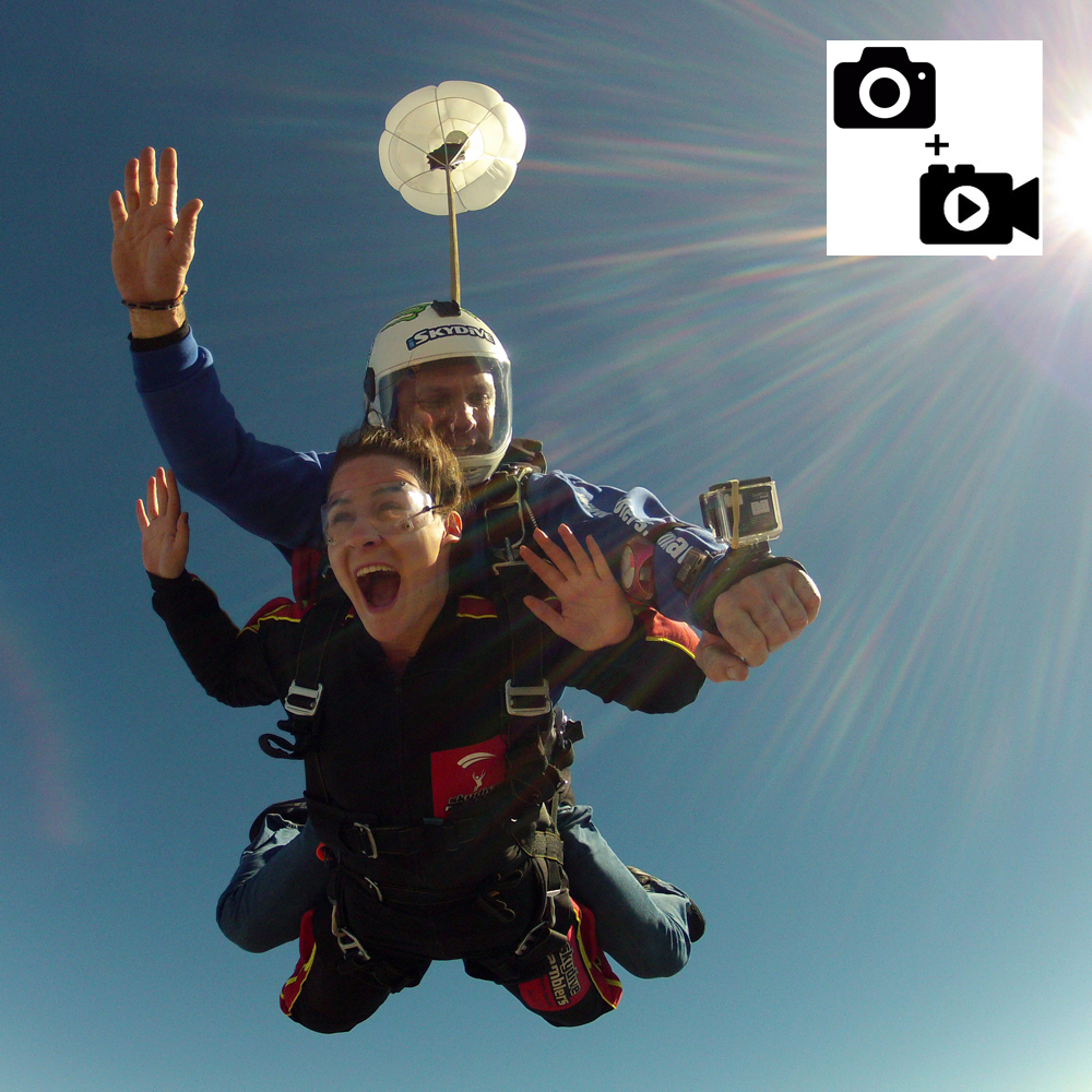 Digital Video & Photos Package of Tandem Jump (USB) - Handycam