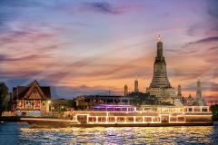 Bangkok River by Night Dinner Cruise with Entertainment - Ticket Only