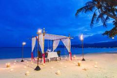 Romantic Dinner for 2 On the Beach - 7 Course - Regent Hotel Chaweng beach – 08.30pm