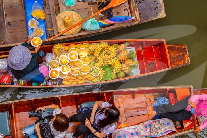 Floating Market and Maeklong Railway Market