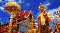 Wat Doi Suthep & White Hmong Hill-Tribe Village via Songthaew - 13.00pm