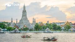Grand Palace & Emerald Buddha Half-Day + Wat Pho + Wat Arun Temple Tour with Guide - PM