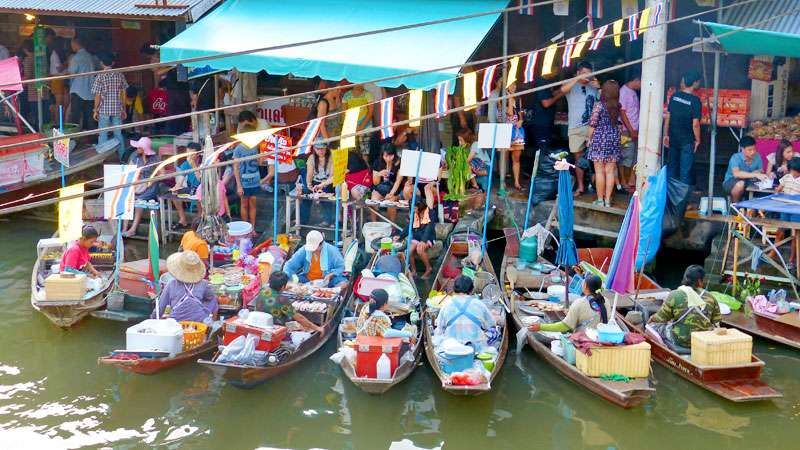 Floating Market & River Kwai with Speedboat and Lunch