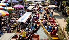 Floating Market Tour with Long-Tail Speedboat Ride (no transfer)