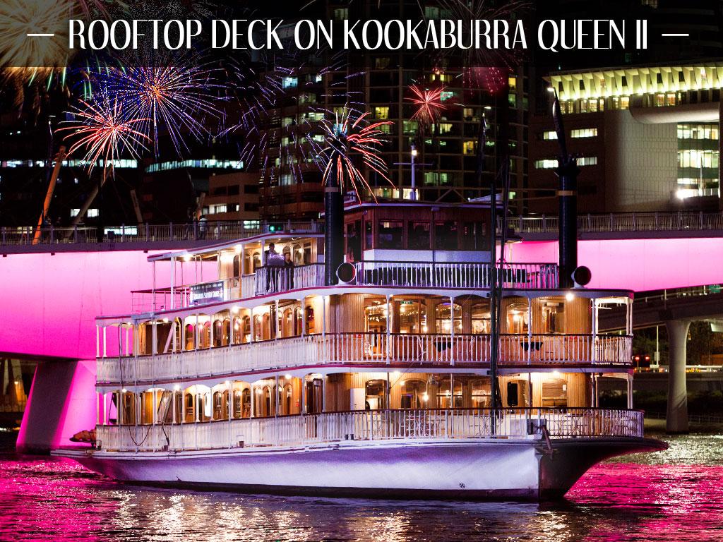 Riverfire - Rooftop Deck on Kookaburra Queen II